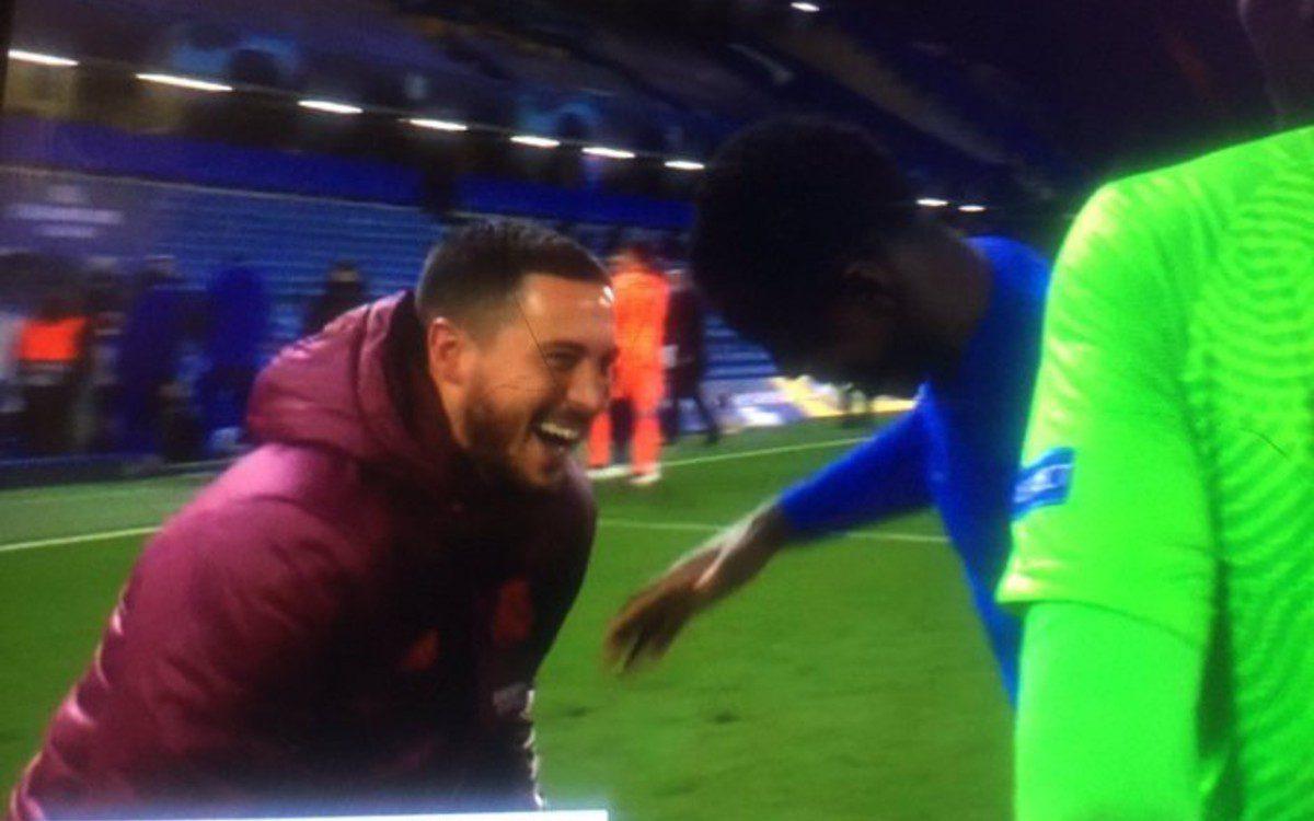 Eden Hazard levanta la ira del madridismo tras su reacción en el partido ante el Chelsea